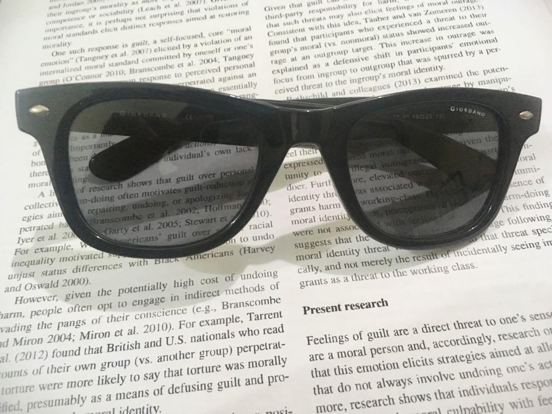 0294aa9ca6 Authentic Giordano Polarized Sunglasses(unisex)