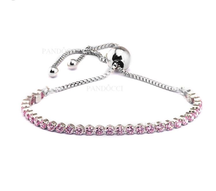 45167720e Authentic Pandora Pink Sparkling Strand Bracelet Cz Women S Fashion  Jewellery On Carousell