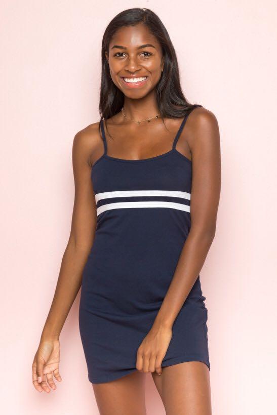 Striped Brandy Dress