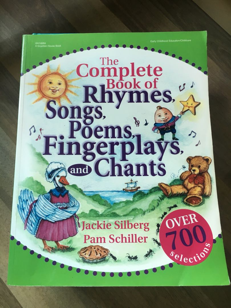 Book of Rhymes, Songs, Poems, Fingerplays and Chants, Books ...