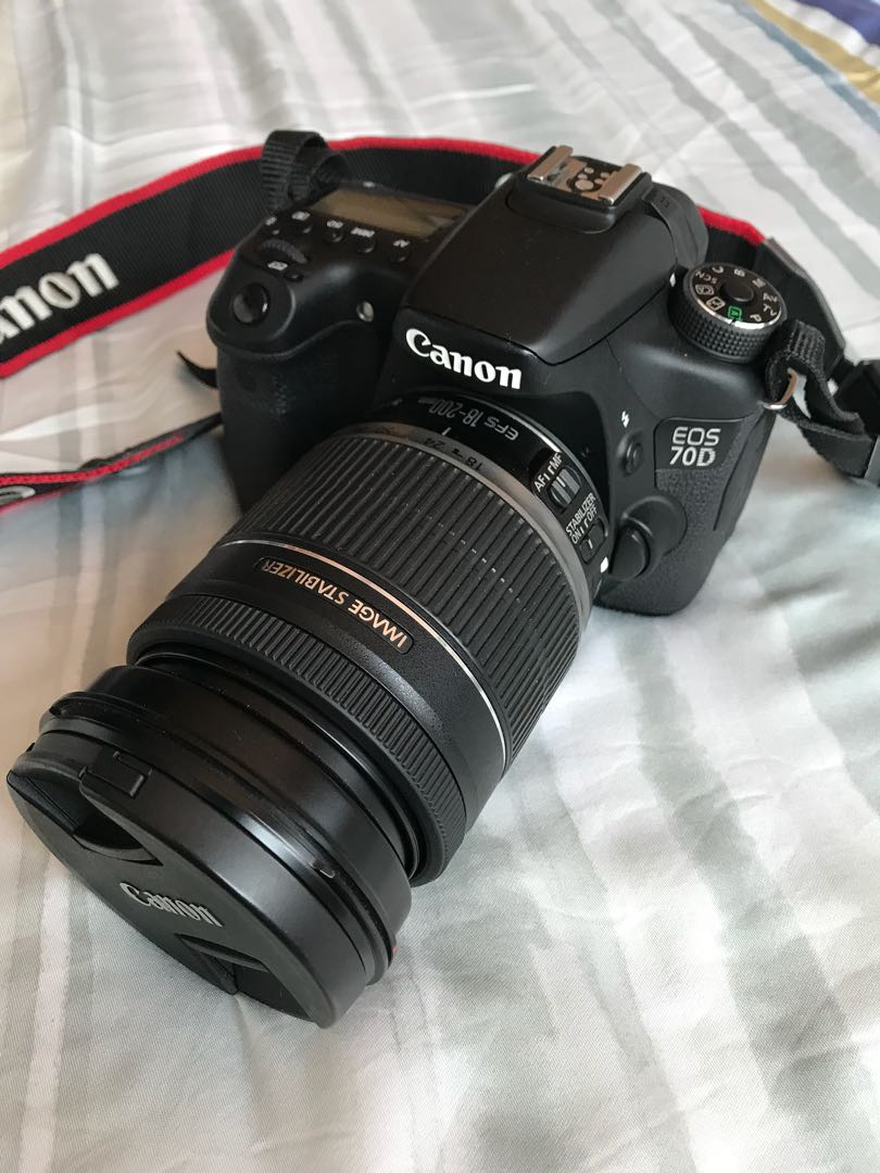 Canon Eos 70d Efs 18 200mm Lens Photography Cameras Dslr On 80d Wi Fi Camera With Home Photo