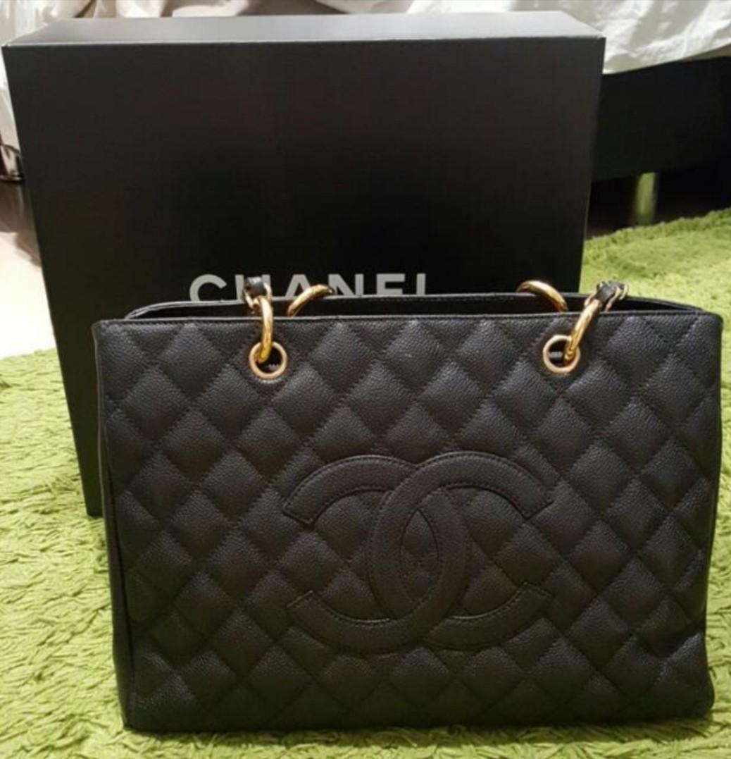 2ebedd5c466a Classic Chanel GST (Grand Shopping Tote) Black caviar, Gold hardware ...