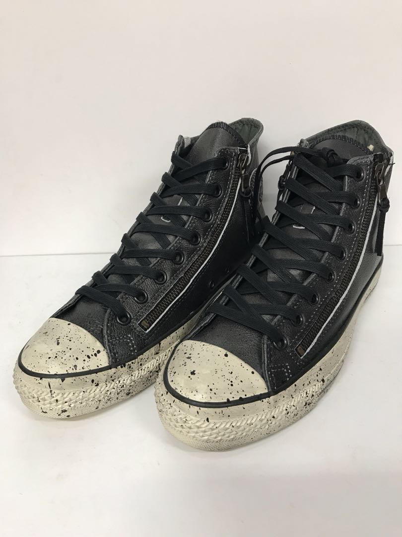 promo code 6bf25 9512d CONVERSE JOHN VARVATOS HI DOUBLE ZIP LEATHER BLACK, Men s Fashion,  Footwear, Sneakers on Carousell