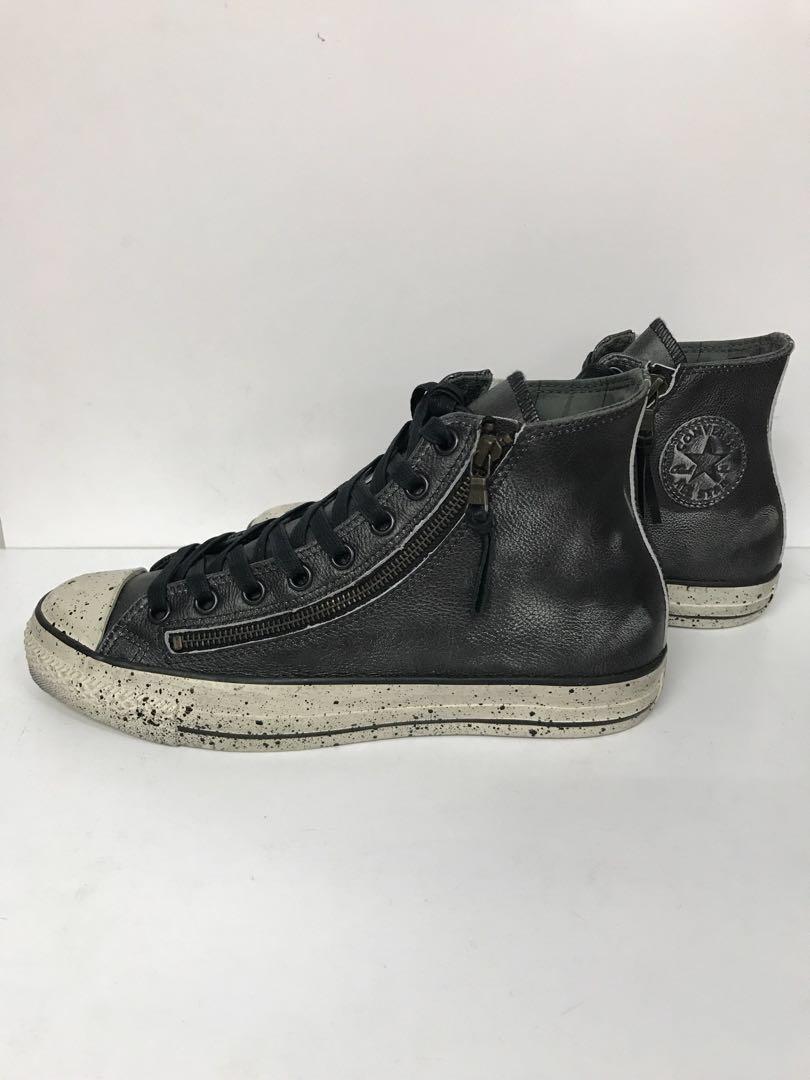 half off 9c364 ddca2 CONVERSE JOHN VARVATOS HI DOUBLE ZIP LEATHER BLACK, Men s Fashion ...