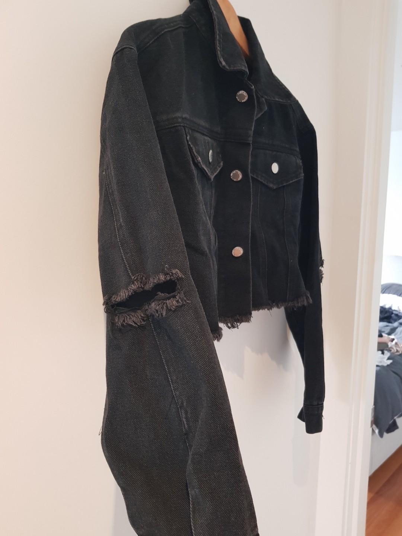 Cropped denim jacket XS
