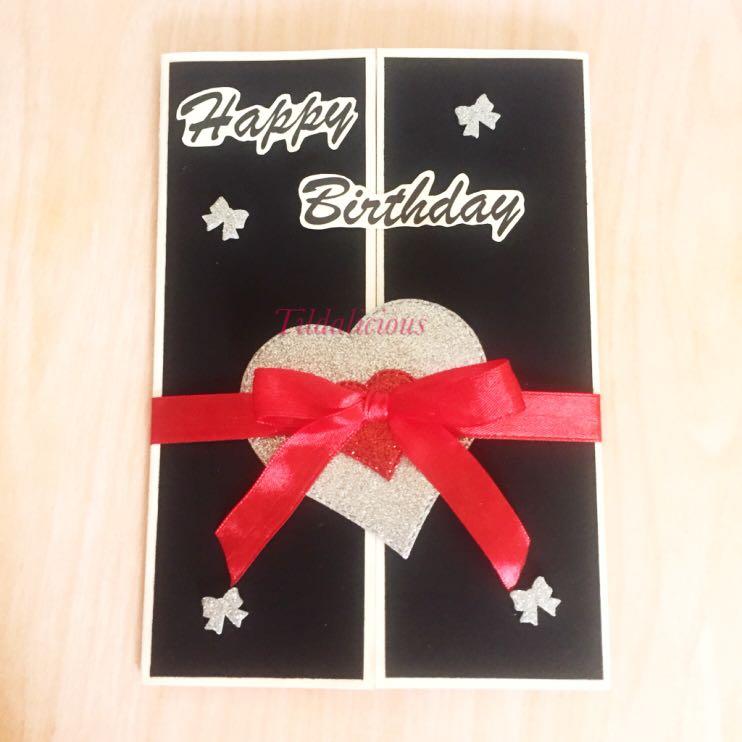 Custom Made Happy Birthday Card Design Craft Handmade On