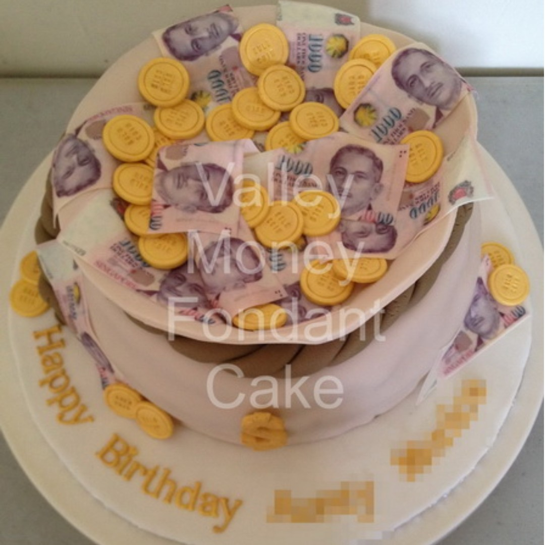 Customised Money Dollar Bill Coins Print Cake Food Drinks Baked