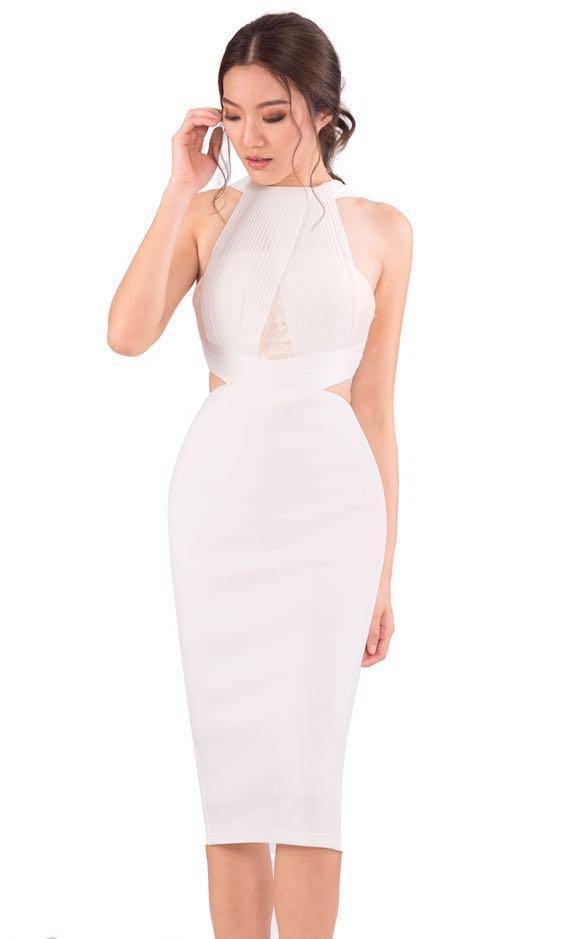 f4d52b04088 Doublewoot Duccessty White Crochet Cut Out Lace Scuba Dress