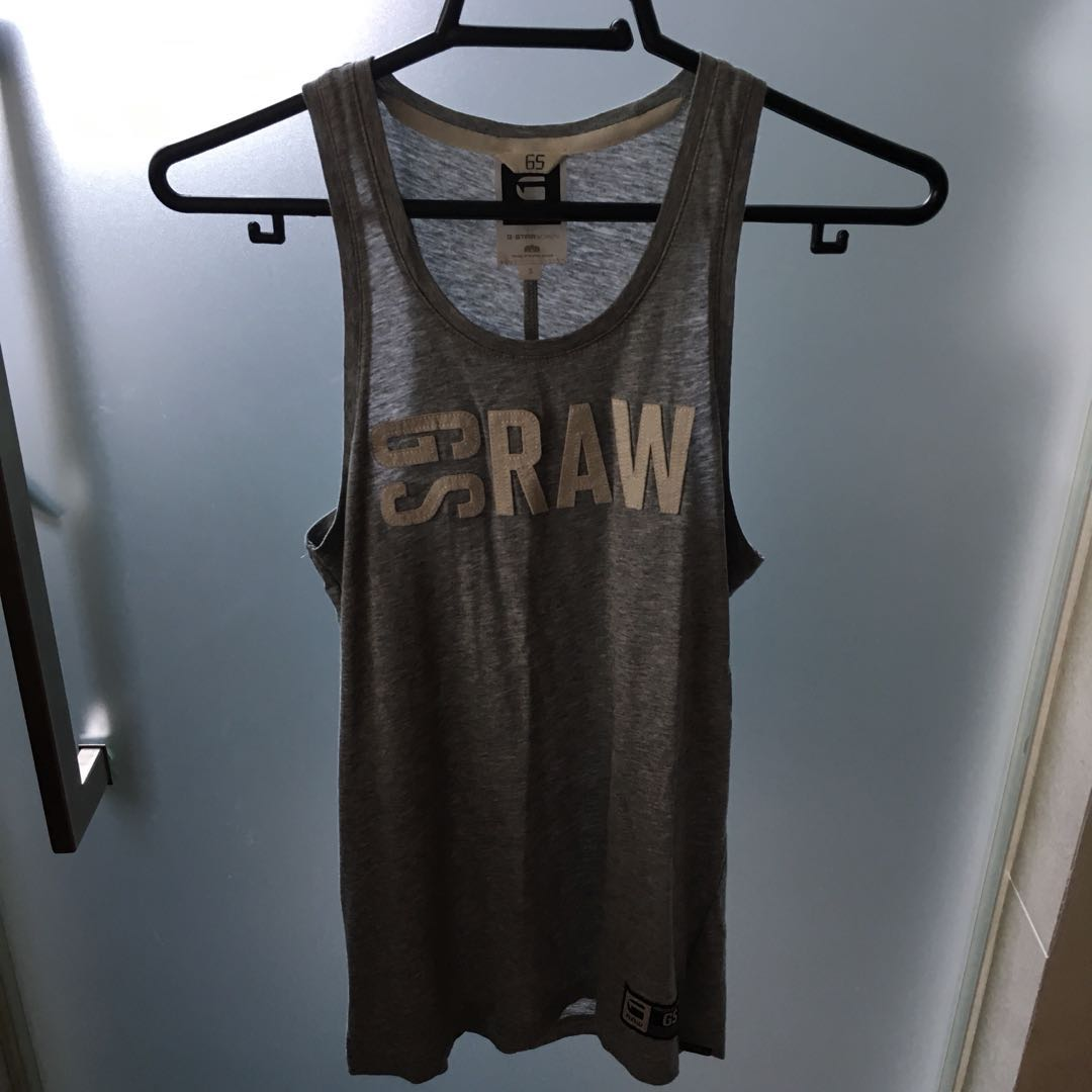 bca033cf041 G STAR RAW GREY TANK TOP, Women's Fashion, Clothes, Tops on Carousell