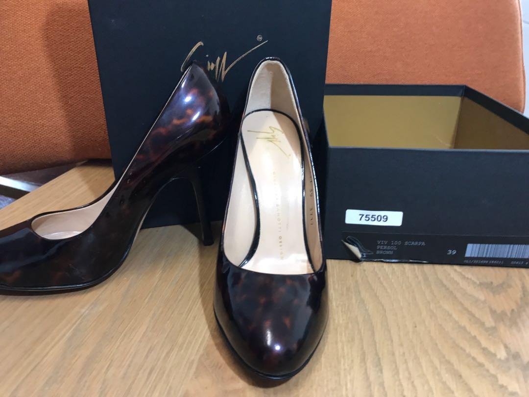5349764021576 Giuseppe Zanotti Patent Leather Pumps Heels Leopard EU 39, Luxury ...