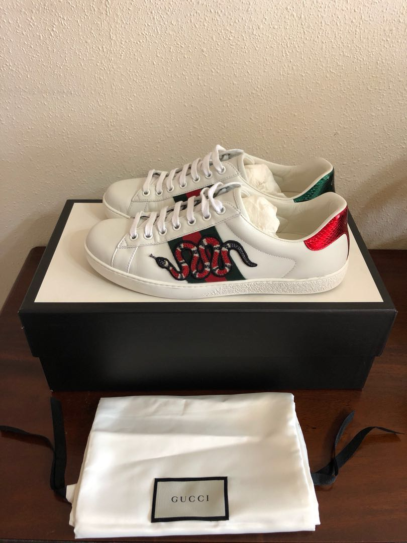 27db95f0c46 Gucci Ace Embroidered Sneaker Snake