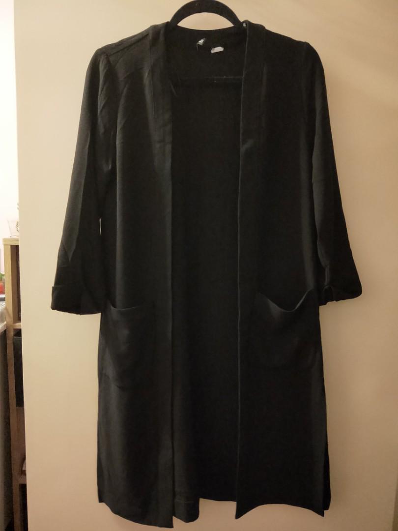 H&M Long black cardigan