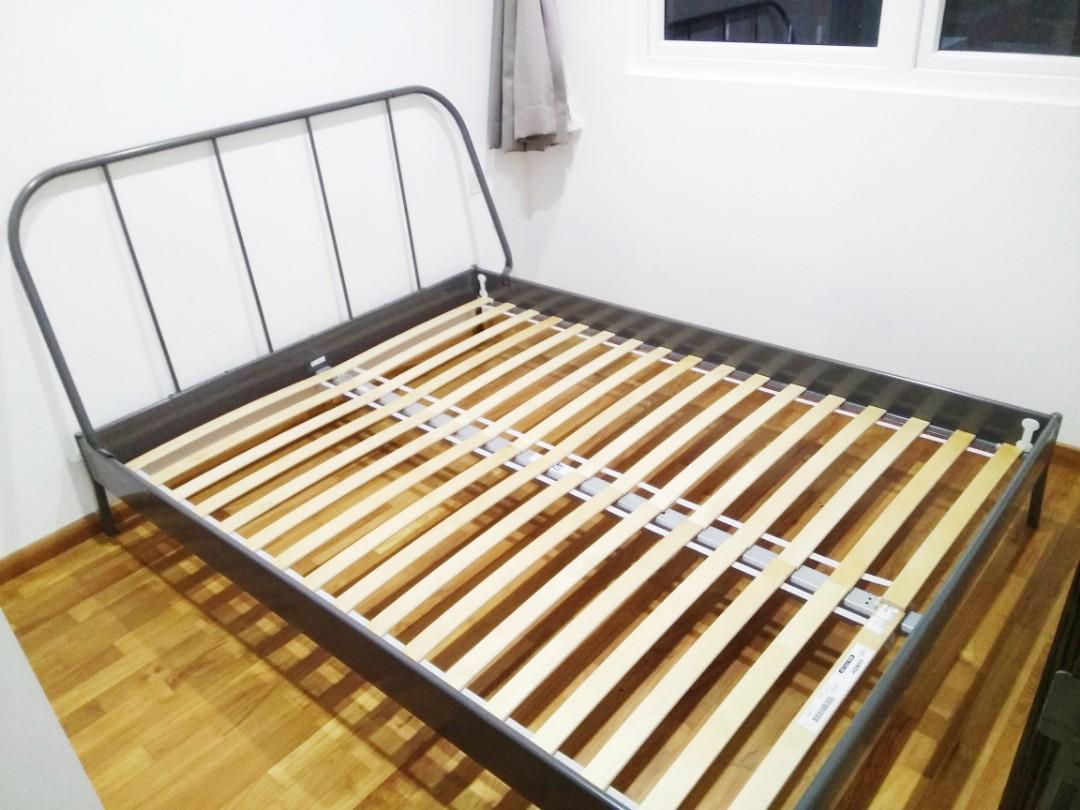 arrives 194a4 67fd6 IKEA Kopardal Bed Frame (Queen Size) with Slatted Bed Base ...