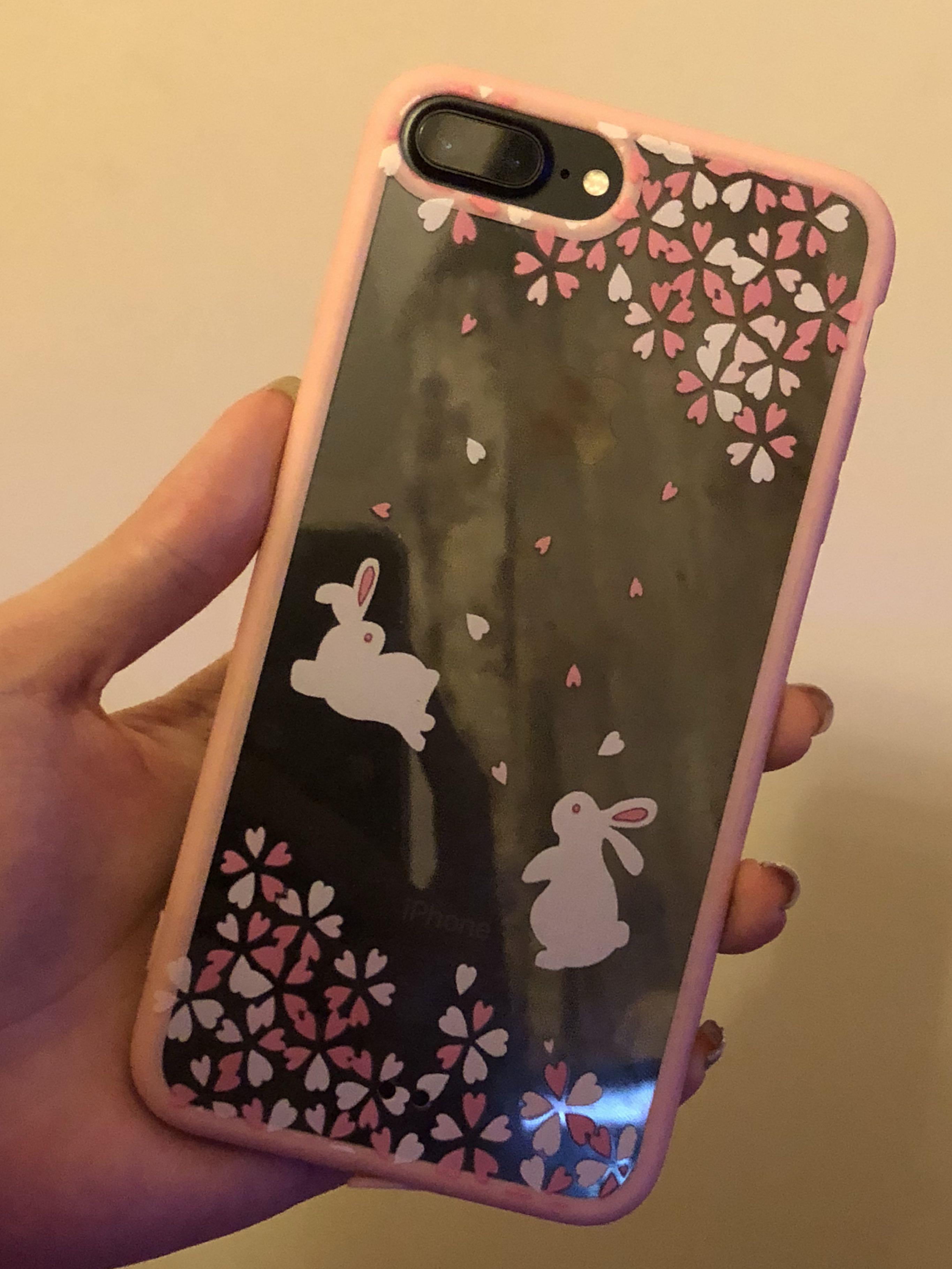 iPhone 7/8 Plus Pink Rabbit Case