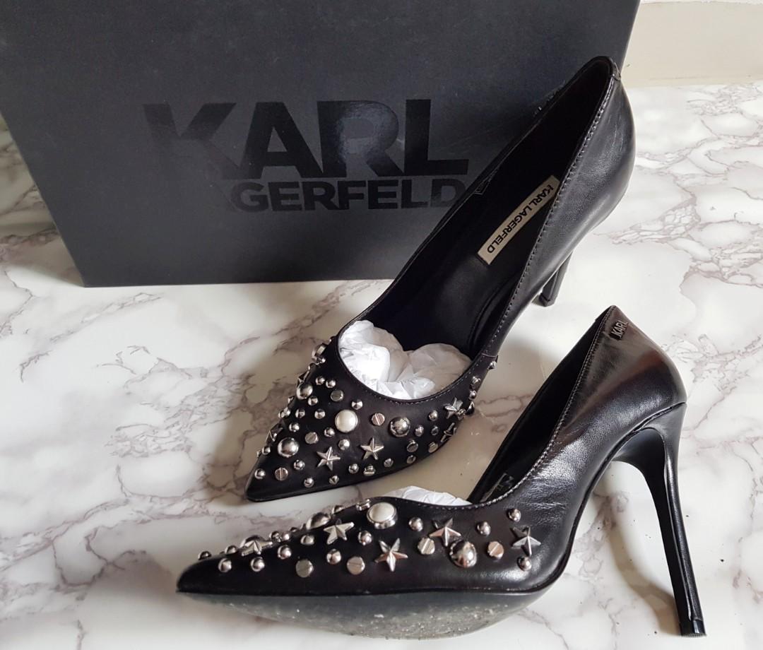 7fa2f449240 Karl Lagerfeld Manoir Court Stars Heels Black (S37)