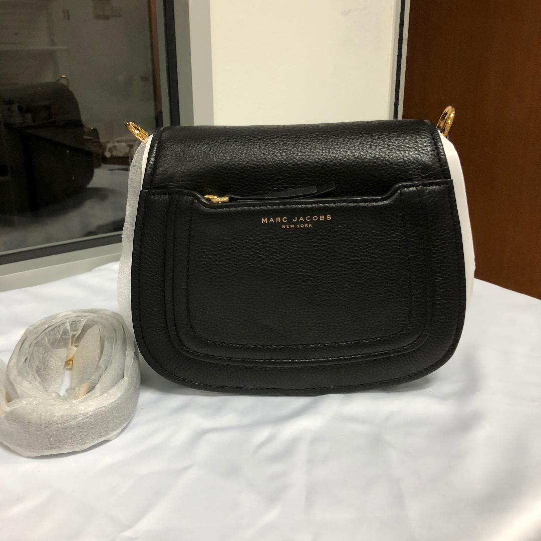 682f2c0a0207 Marc Jacobs Empire City Mini Messenger Leather Crossbody Bag Black ...