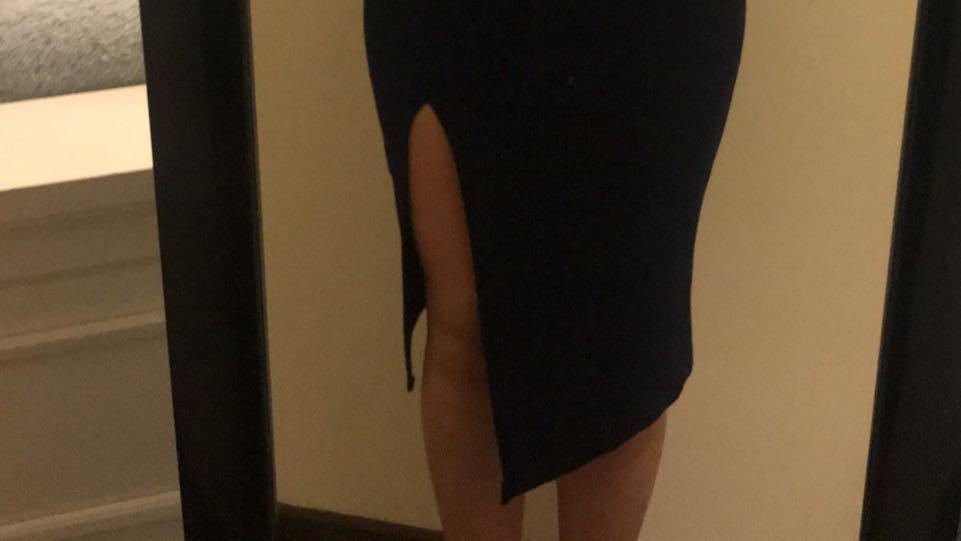 Navy blue dress formal