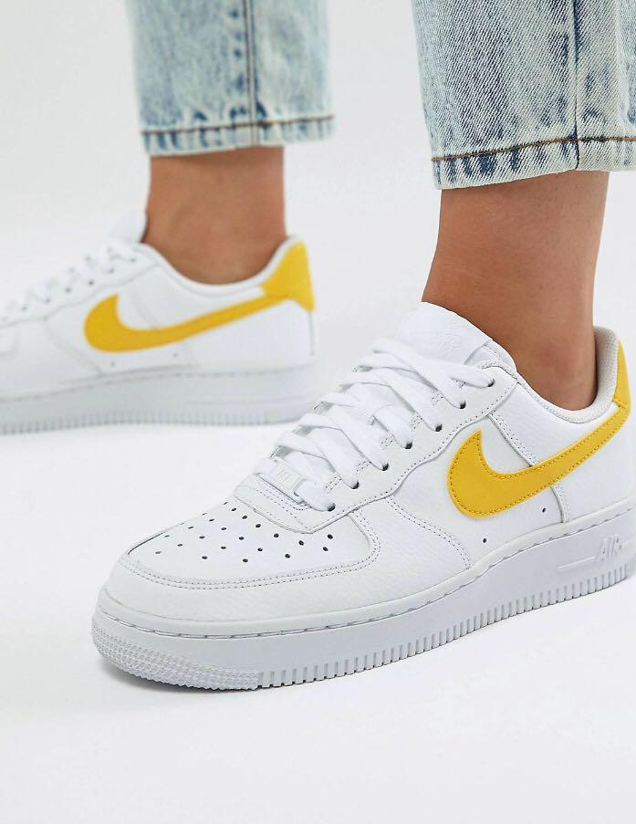 Nike Air Force 1 Trainers - White and