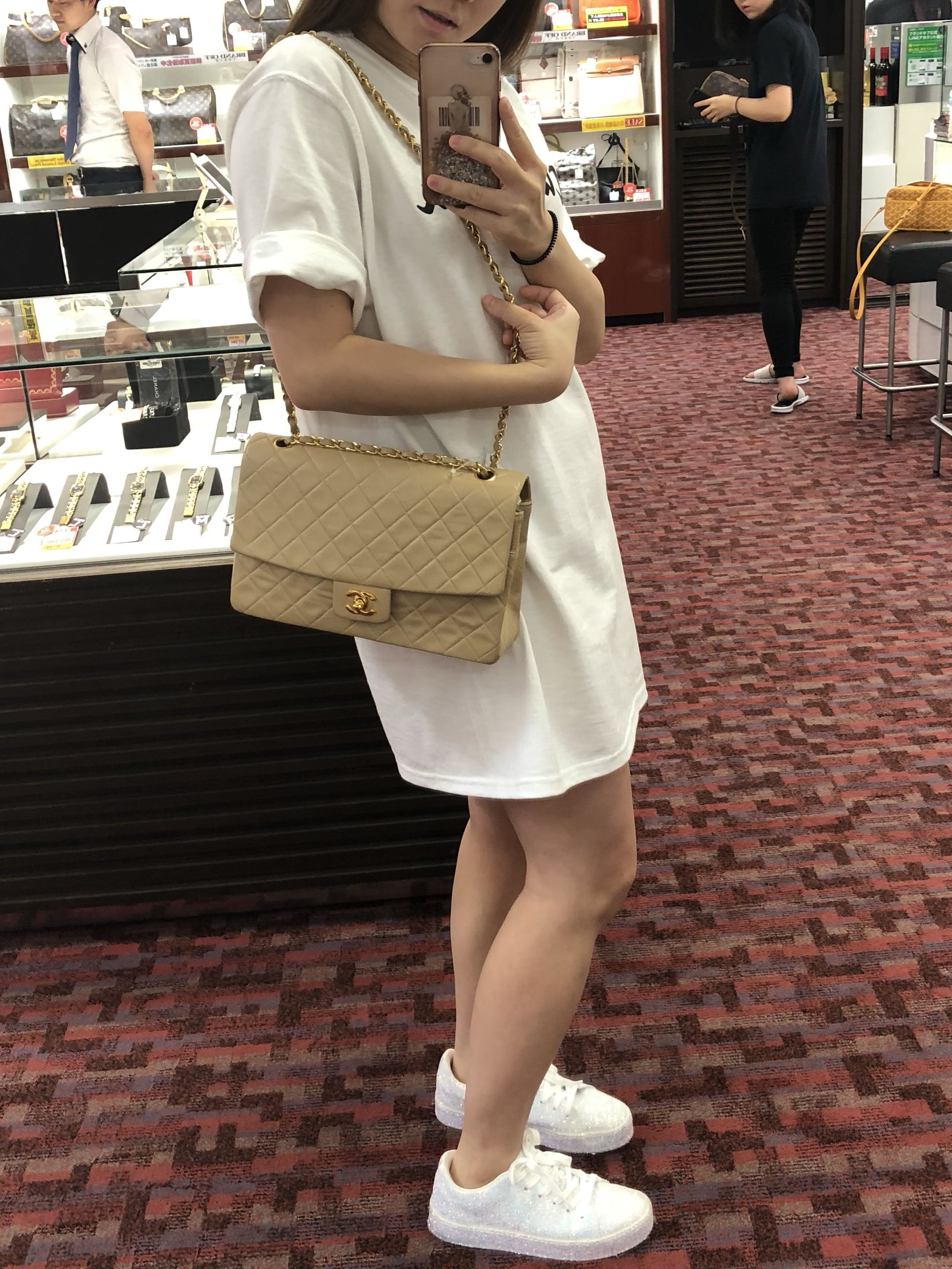 63e3f1293f6d19 NOW IN JAPAN: Authentic Chanel Beige Lambskin Single Flap Bag with 24k Gold  Hardware, Luxury, Bags & Wallets, Handbags on Carousell