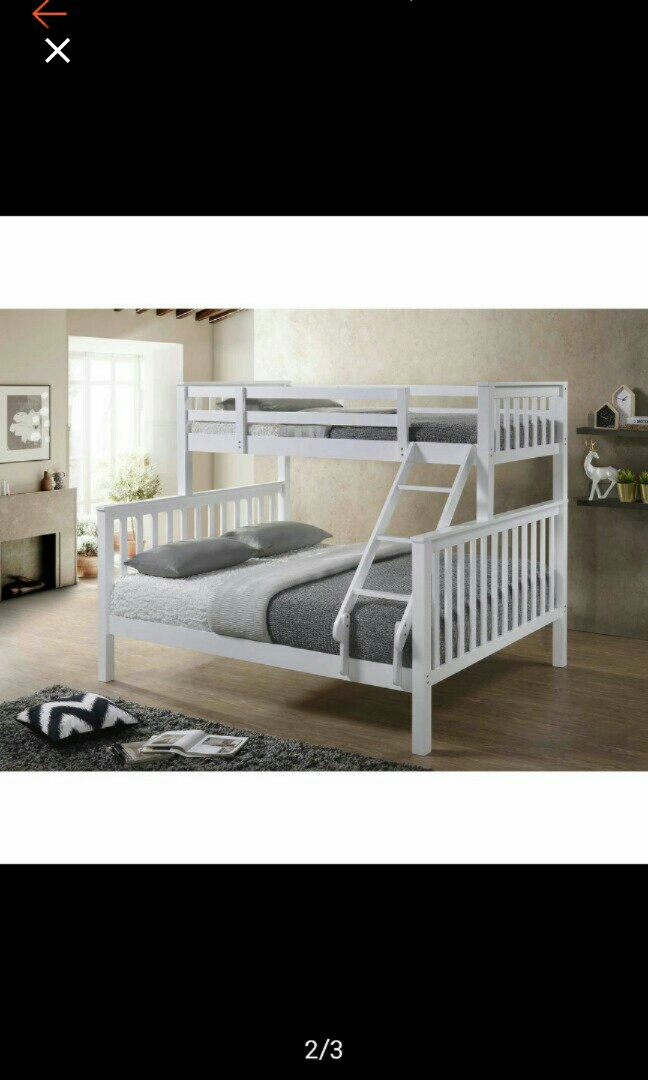 Only Frame Queen Single Bunk Bed Ladder Double Decker Bed