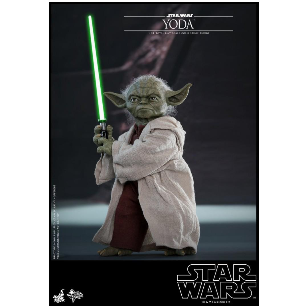 Star War Episode II Hot Toys 1//6 MMS495 Yoda Attack of the Clones