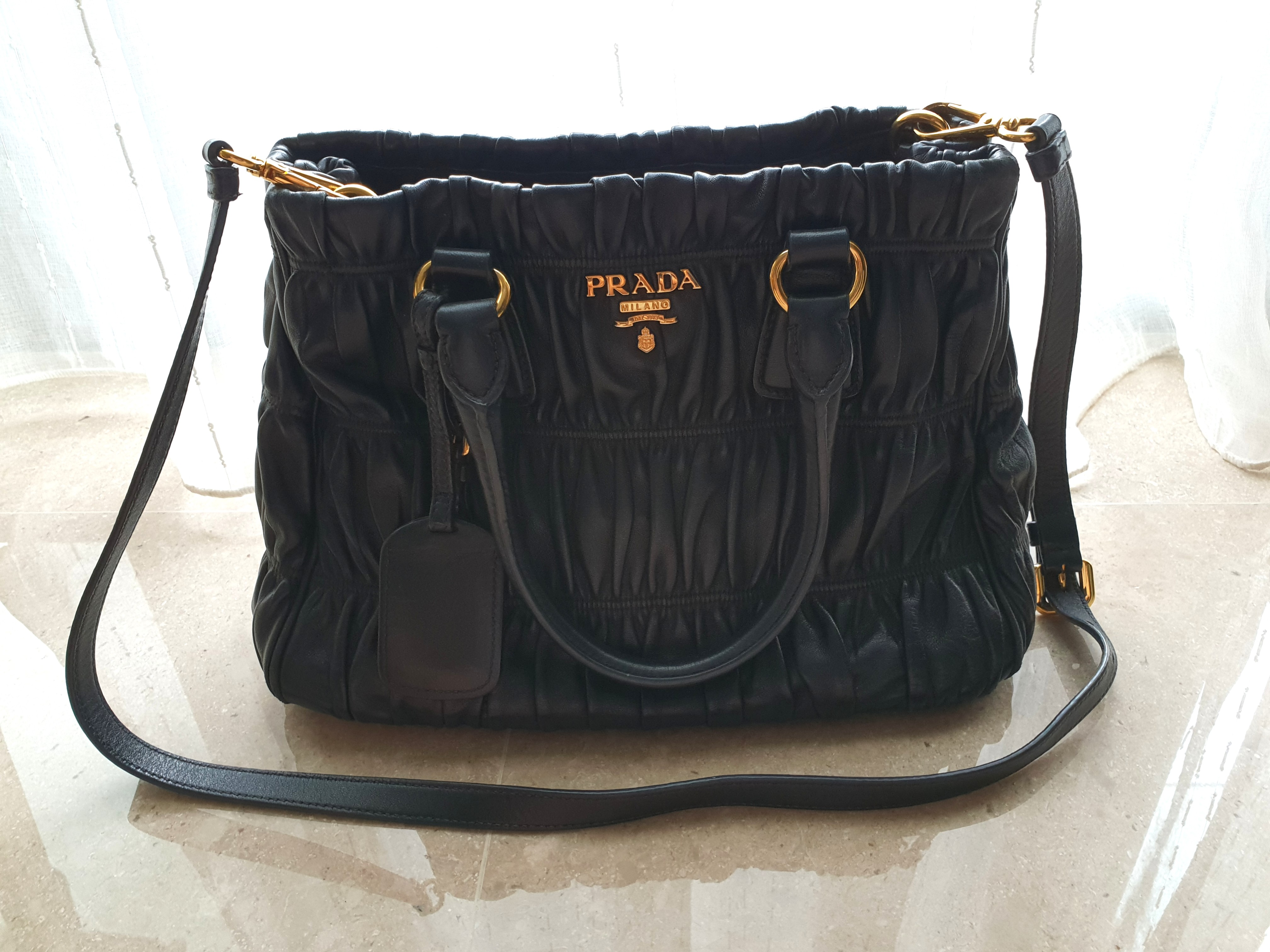 f42788313a58 Prada Authentic Nappa full leather, Luxury, Bags & Wallets, Handbags ...