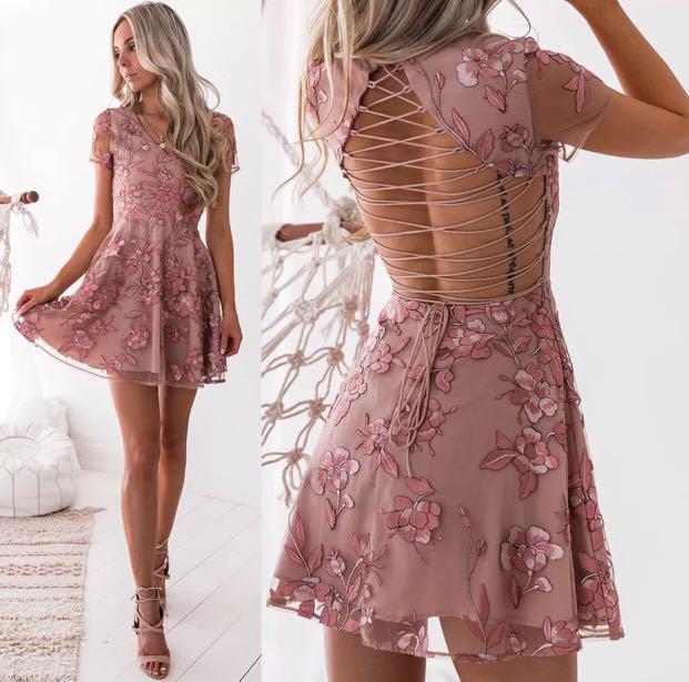 RRP$120 BNWT Saskia Lace Up Dress- Zimmerman look alike