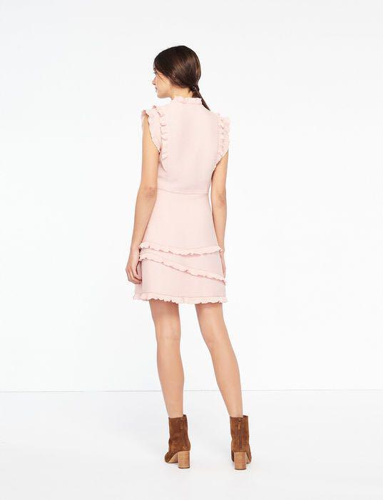 Sandro Honeycomb Fabric Sleeveless Dress