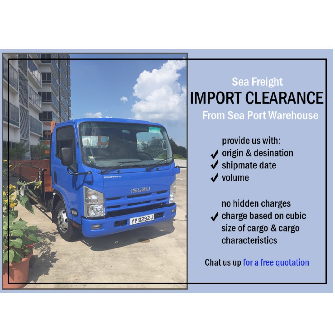 Sea Freight Import Clearance from Sea Port Warehouse