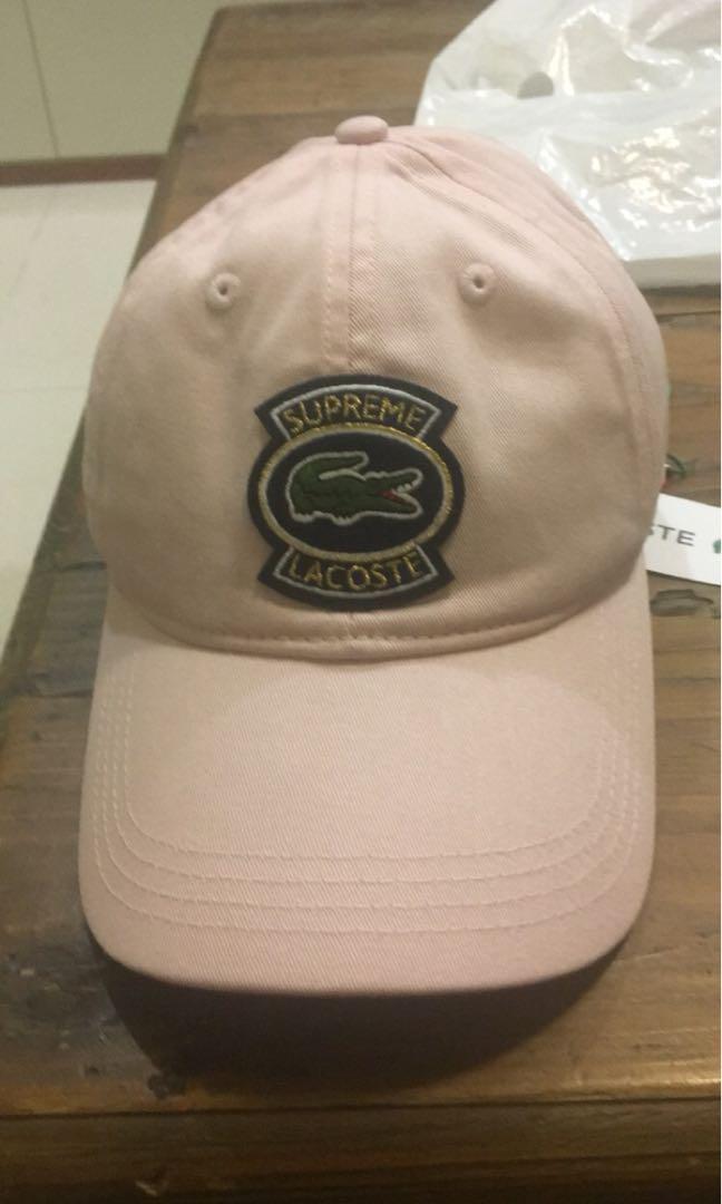 c27646f8a9f Supreme Lacoste pink peach cap