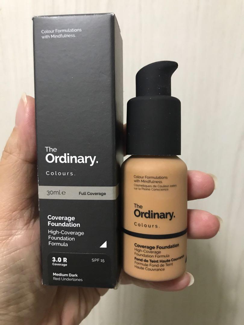 The Ordinary Coverage Foundation Shade 3 0r Medium Dark Health Beauty Makeup On Carousell