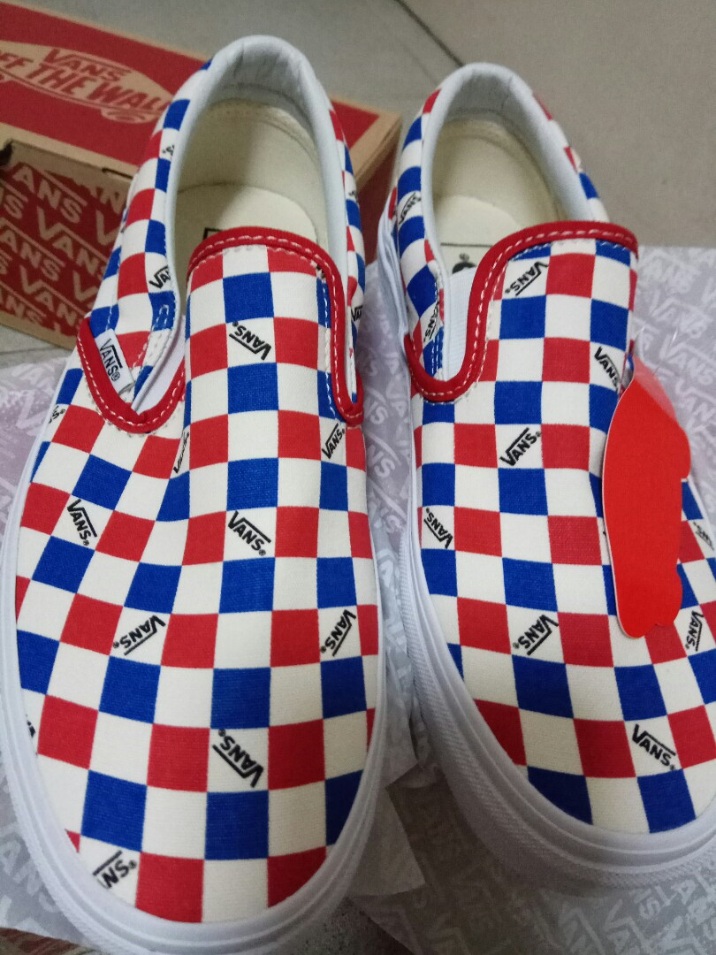7285a777df clearance  Vans Factory Pack Classic Checkerboard Slip-On