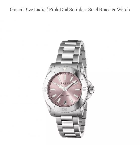 1c003d53015 Women Gucci Dive ladies s stainless steel watch in silver