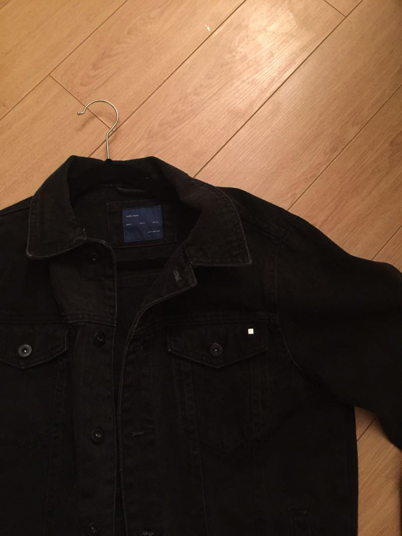 Zara Black Denim Jacket