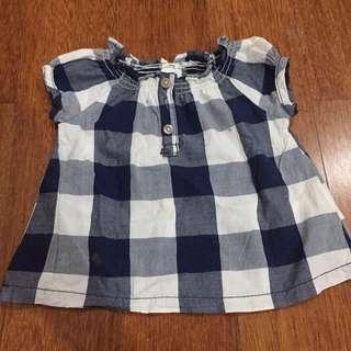 Carter's tartan blouse