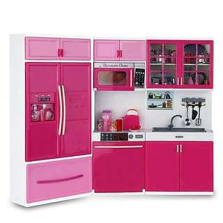🚚 Kids Large Kitchen Playset Girls&Boys Pretend Cooking Toy Play Set Pink Gift