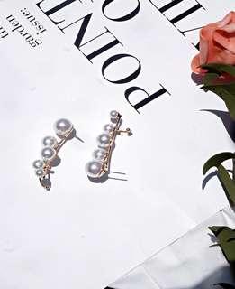 🚚 歐美珍珠兩戴耳環