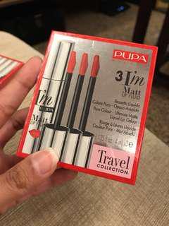 Pupa Milano travel collection matte liquid lipstick