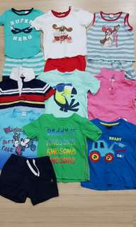 Boy clothes(1 to 2+ yrs)(All items in 4 pics for rm100)