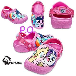 LF: little pony Crocs size C12 to J1