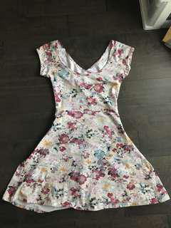 Floral Light Pink Summer Dress