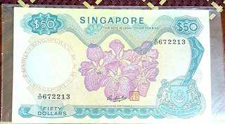 Orchid series $50 note