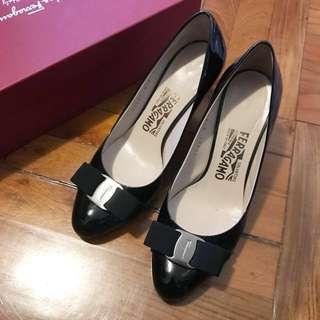 100% Real FERRAGAMO Carla 70 Shoes Heels 鞋
