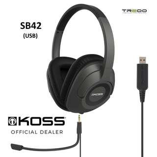 Koss SB42 USB Communication Headset with Microphone