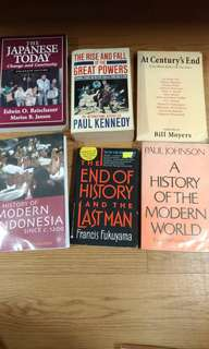 History books [6 for $25]