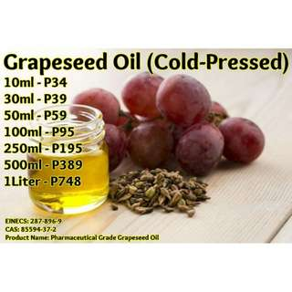 Grapeseed Oil (Cold-Pressed) - Certified Organic