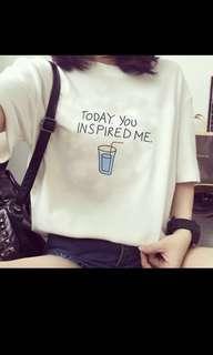 Korean summer printed tee (tshirt)