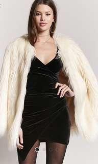 BRAND NEW Forever21 Mini Black Velvet Dress