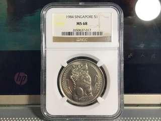 1984 Singapore $1