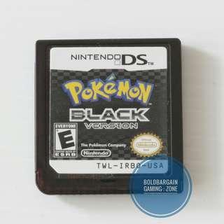 Authentic PoKeMon Black Game Cartridge for NINTENDO DS 3DS DSi Console